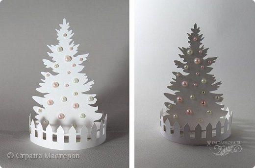 Поделка изделие Новый год Рождество Бумагопластика Вырезание Ёлка наряжается праздник приближается Бумага