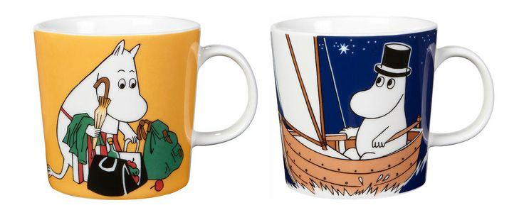 New Moominmamma and Moominpappa mugs! These are the new 2014 Arabia Moomin mugs featuring Moominmamma and Moominpappa and they are replacing...