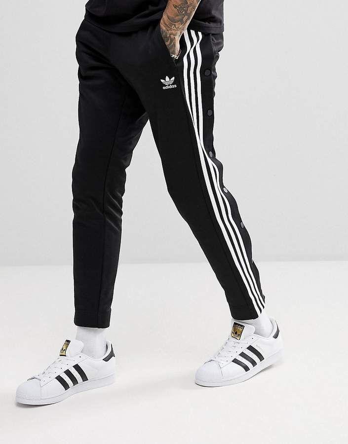 14121065d adidas Originals adicolor Popper Joggers In Black CW1283 | My Adidas ...
