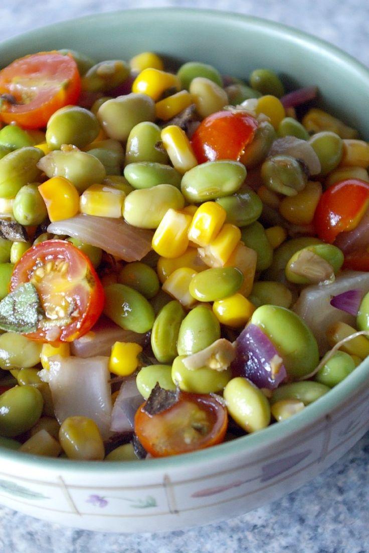 Edamame Corn, Salad Recipes, Corn Salads, Cherries Tomatoes, Edamame ...