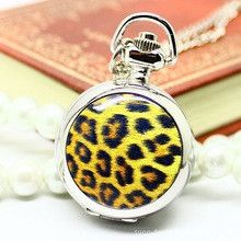 Hot Fashion Trendsetter Clothing Small Enamel Leopard Table Pocket Watch Antika Saatler Pocket Watchs Automatic Watch Men