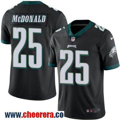 Men's Philadelphia Eagles #25 Tommy McDonald Black 2016 Color Rush Stitched NFL Nike Limited Jersey