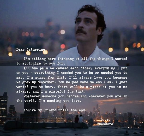 from Theodore, with love to Catherine #Her