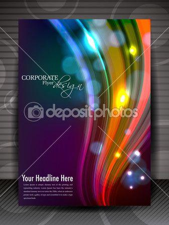 Дизайн листовки, брошюры или Обложка для публикации, печатные и представ — Векторная картинка #11694411