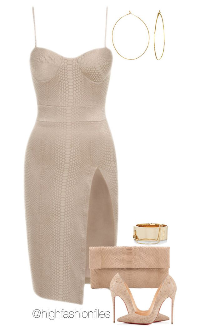 """Pop The Cork"" by highfashionfiles ❤ liked on Polyvore featuring Primary, Christian Louboutin, Eddie Borgo and Phyllis + Rosie"