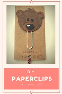 Easy DIY paperclips. ❤ Handmade for your journal or filofax planner.  Eccentric Eclectic Studio Yana Fourie