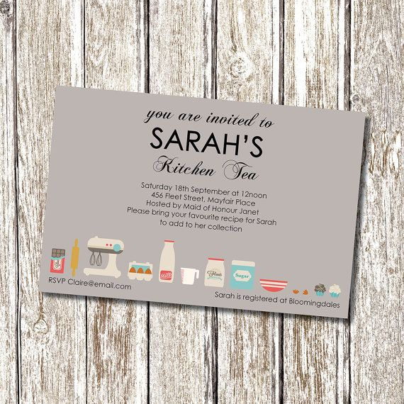 kitchen tea invitations tea ideas bridal showers event ideas the bride