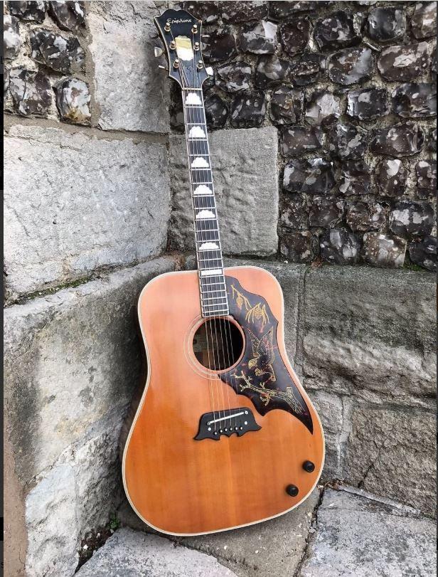 Epiphone Ft 120 Excellente 1964 Natural Epiphone Acoustic Guitar Acoustic Guitar Epiphone