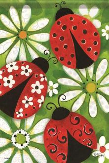 Summer Ladybugs Garden Flag FlagTrends CLASSIC FLAGS by Carson