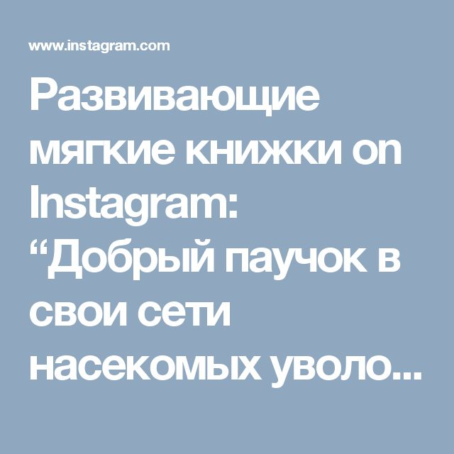"""Развивающие мягкие книжки on Instagram: """"Добрый паучок в свои сети насекомых уволок, и посчитать даже смог 😂👍 Цифры на липучках, паучок на веревочке.…"""""""