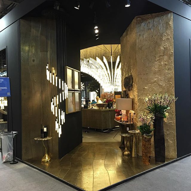 Polished brass organic Bolefloor at the stand at Maison et Objet in Paris #cravt…