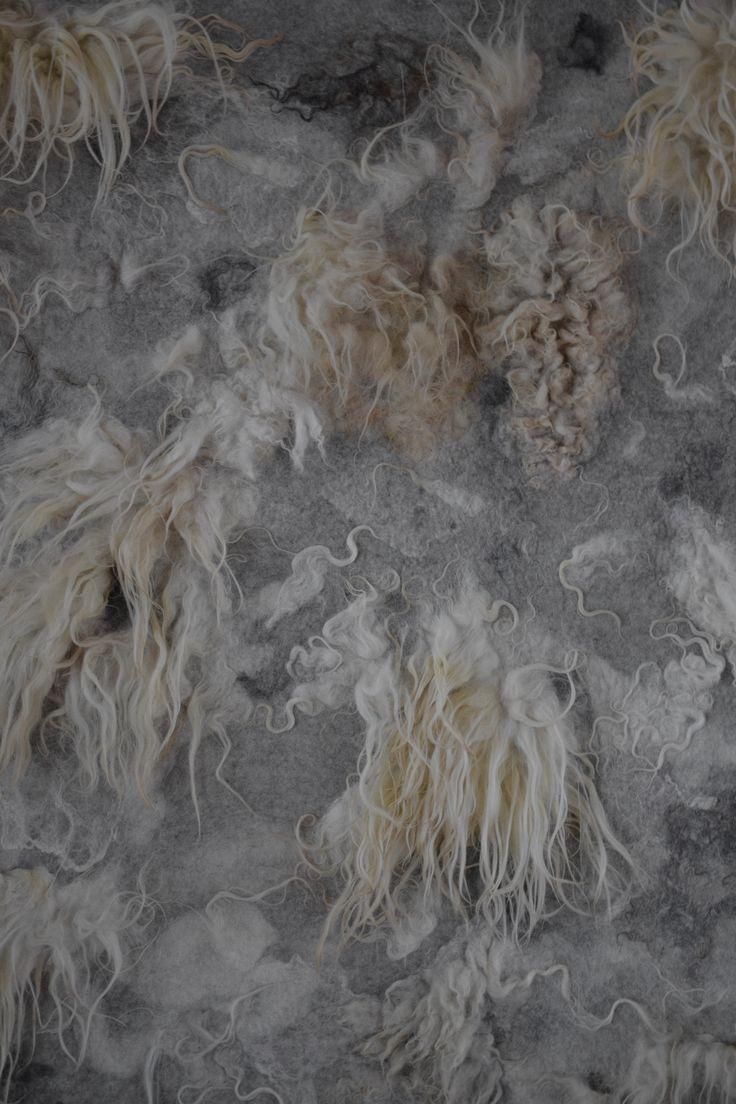 wandkleed vilt kleed schapenvacht design