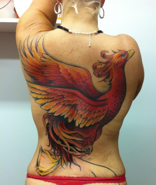 Phoenix tattoo can represent letting go of the past and overcoming your troubles of the past