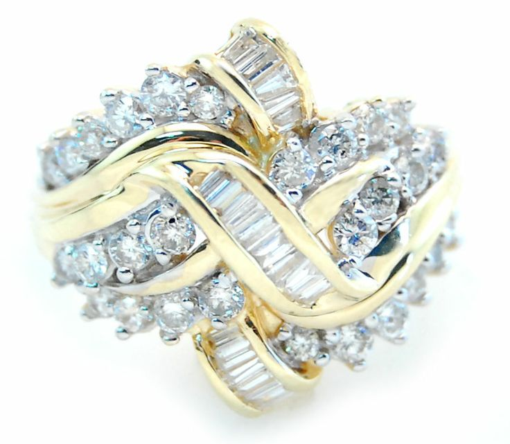 Round And Baguette Diamond Ring