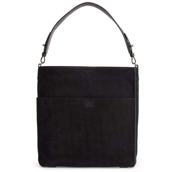Women's Allsaints Echo North/south Calfskin Tote (77.025 HUF) ❤ liked on Polyvore featuring bags, handbags, tote bags, black, slouch purse, slouch handbags, calfskin leather handbags, allsaints and slouchy purse