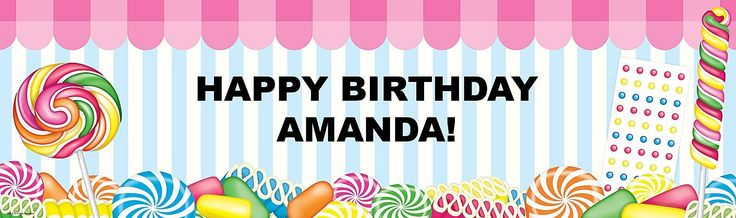 Candy Shoppe Personalized Banner from BirthdayExpress.com