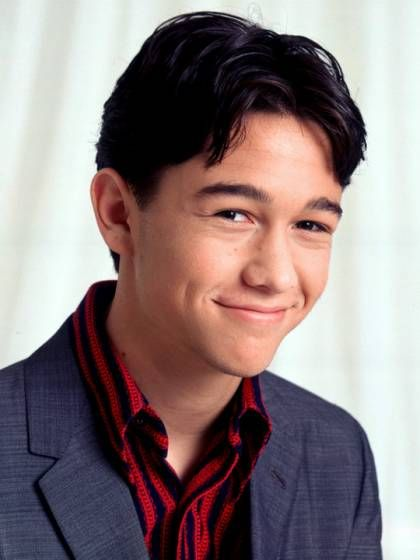 Young Joseph Gordon-Levitt in Blue Sports Coat and Blue and Red Striped Buttondown