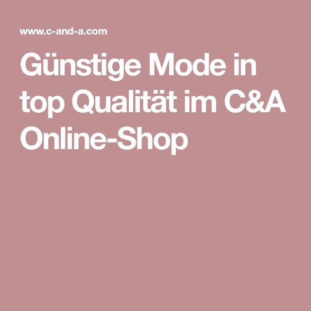 Günstige Mode in top Qualität im C&A Online-Shop