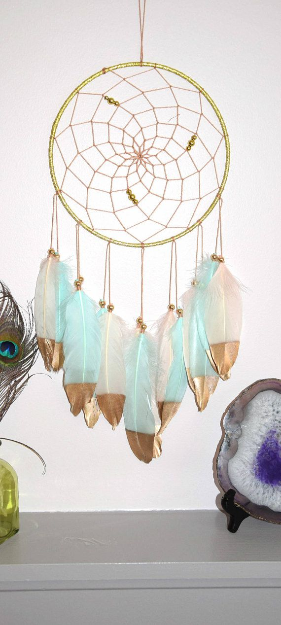 Blush Mint Dream Catcher Wall Hanging Dream