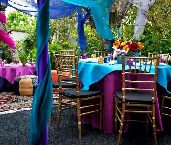 Moroccan Wedding Shower Decor