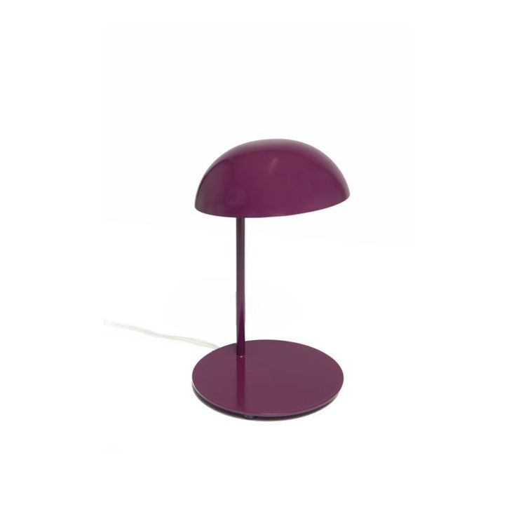 With its round shape, both simple and fun, Pokko irresistibly attracts attention! Entirely made of lacquered metal, this lamp is composed of a hemisphere-center perched on a thin stem. With an LED source high efficiency, Pokko diffuse functional lighting despite its small size. Elementary and purified forms of Pokko are highlighted by a multitude of bright colors. Pokko is perfect on a desk or nightstand.