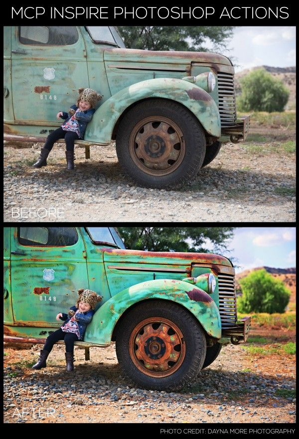 Make your pictures pop and add dramatic color using the Drama Photoshop action from Inspire.