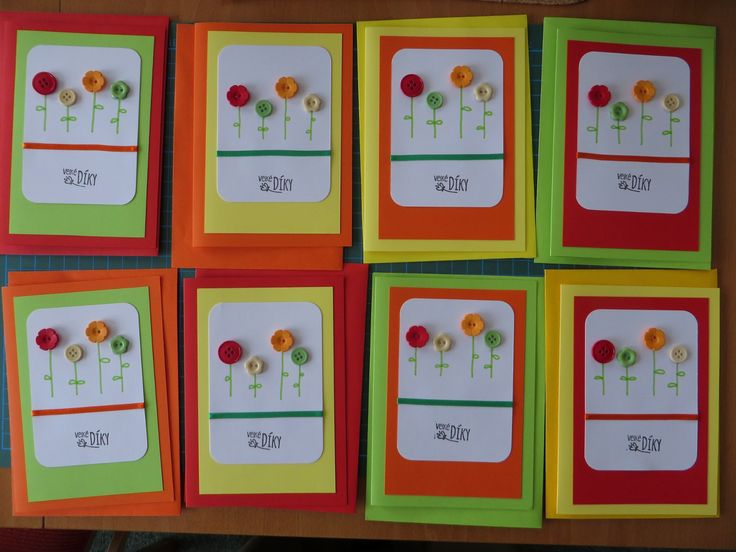 My own version of THANK YOU cards for Kindergarden teachers... (final phase :))