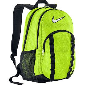 This mesh backpack is awesome for carrying all your sports gear! SportsAuthority.com