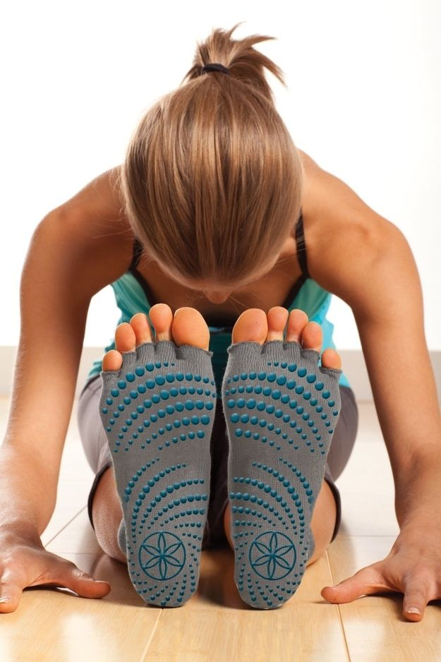 Gaiam's Toeless Yoga Socks let you do yoga anywhere. | 28 Clever Products You Need To Get In Shape For 2014