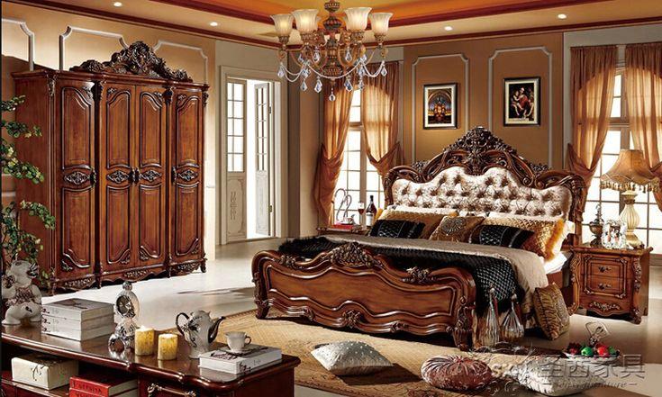 Resultado de imagen para habitaciones lujosas para mujer - Camas de madera antiguas ...