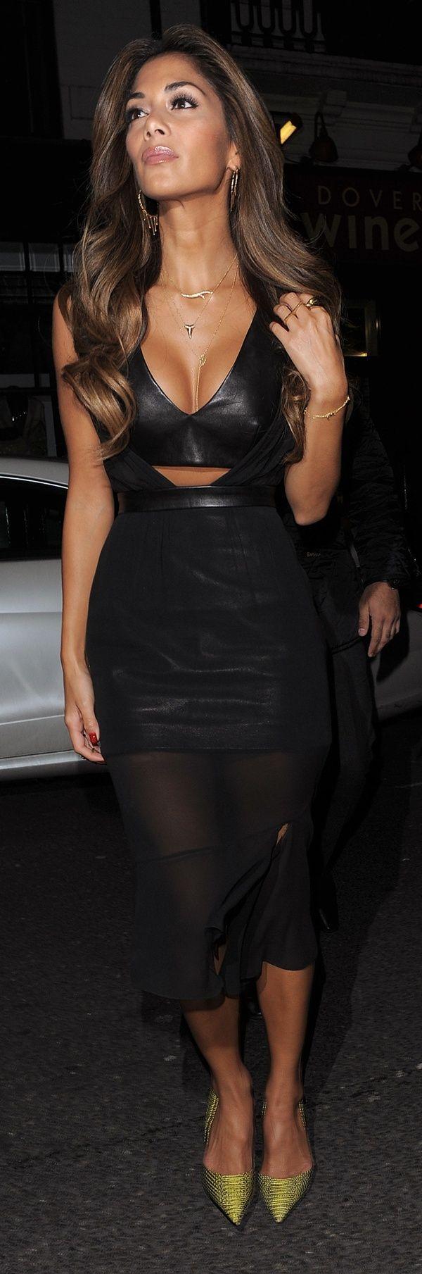 Nicole Scherzinger enjoys an evening at The Arts Club in Mayfair