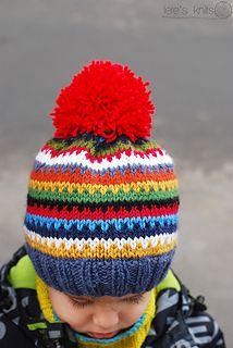 ravelry: scrappy ski hat pattern (free)