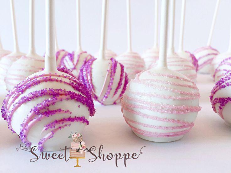 pretty swirl cake pops!