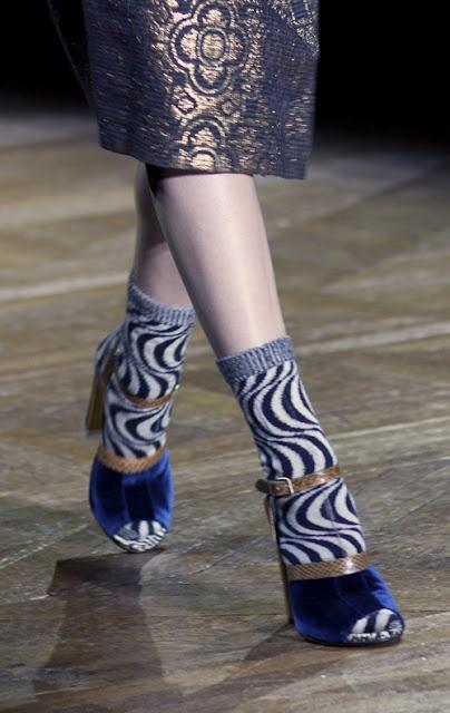 Stylish socks + stylish sandals = punchy combination