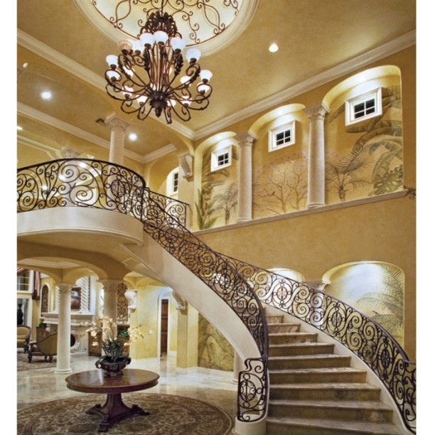 49 best stairs images on pinterest ladders stairways for Luxury staircase