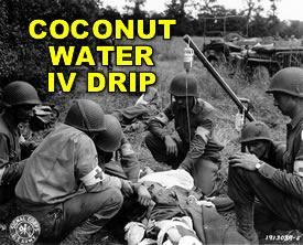 The water inside of a coconut is identical to human blood plasma. Lives in 3rd world countries have been saved from it, fed through an IV.
