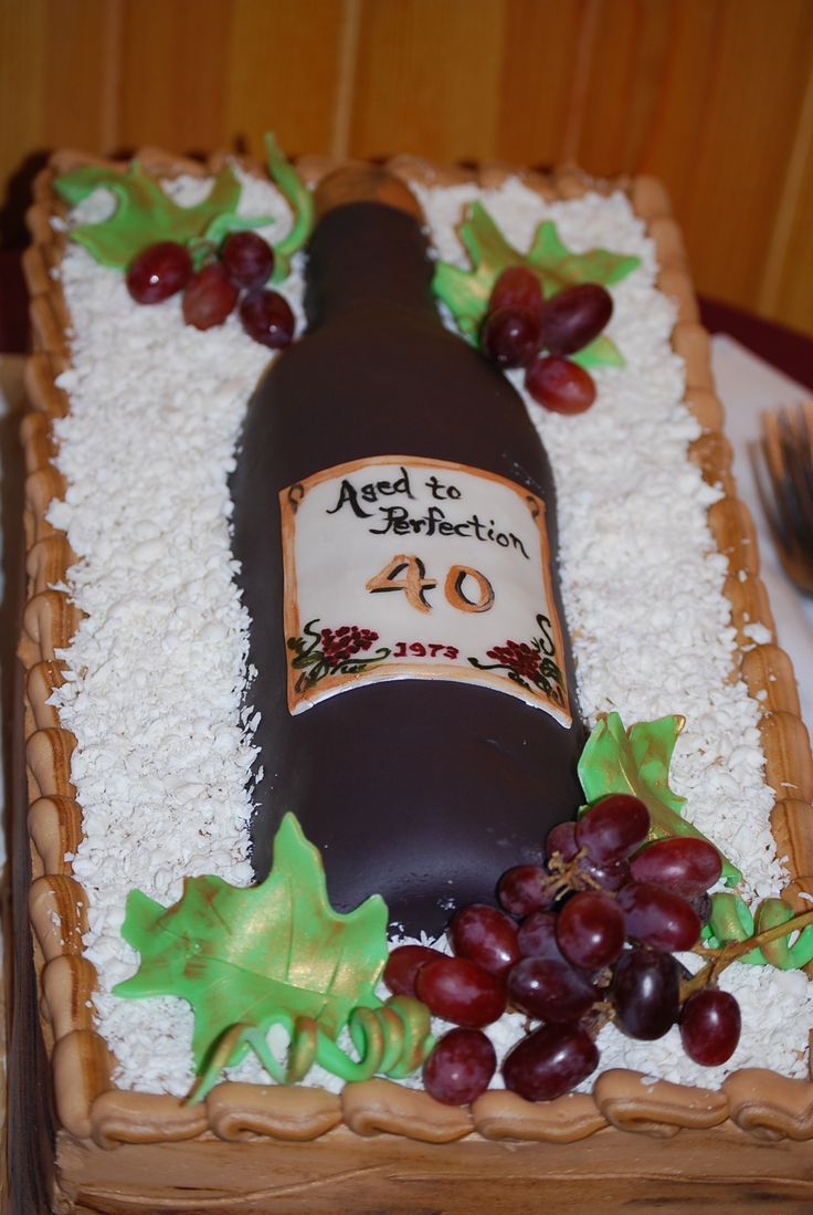 Wine Bottle Birthday Cake Recipes Pinterest Bottle