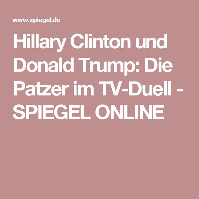 Hillary Clinton und Donald Trump: Die Patzer im TV-Duell - SPIEGEL ONLINE