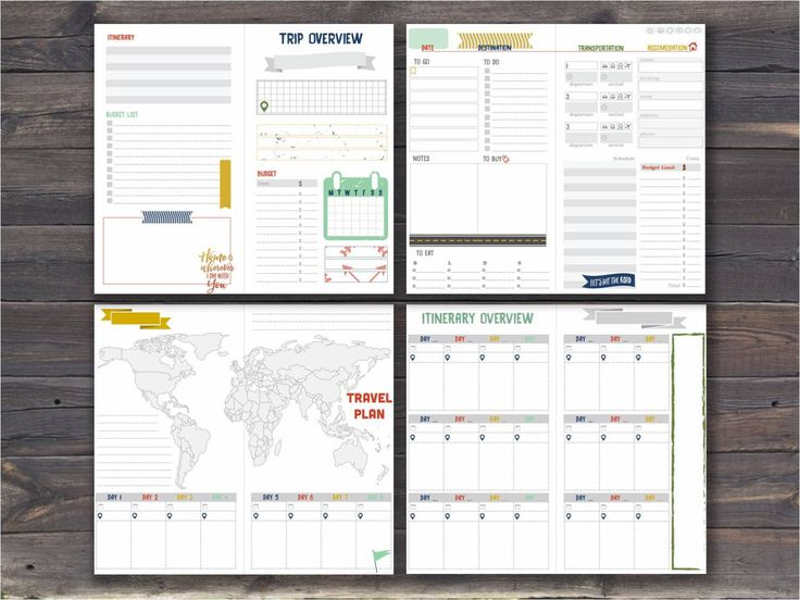 Kidu0027s Travel Journal Traveleru0027s Gift Travel by ThisCherishedLife - travel log template