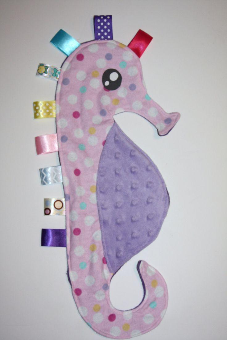 Seahorse taggie blanket