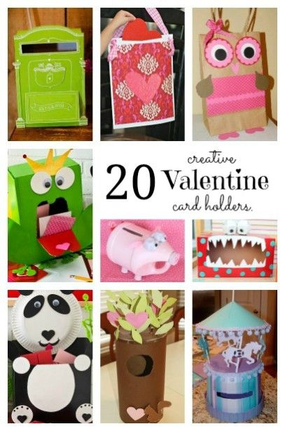 20 creative Valentine Card Holders ~ adorable ideas for the kids Valentine's Day Party