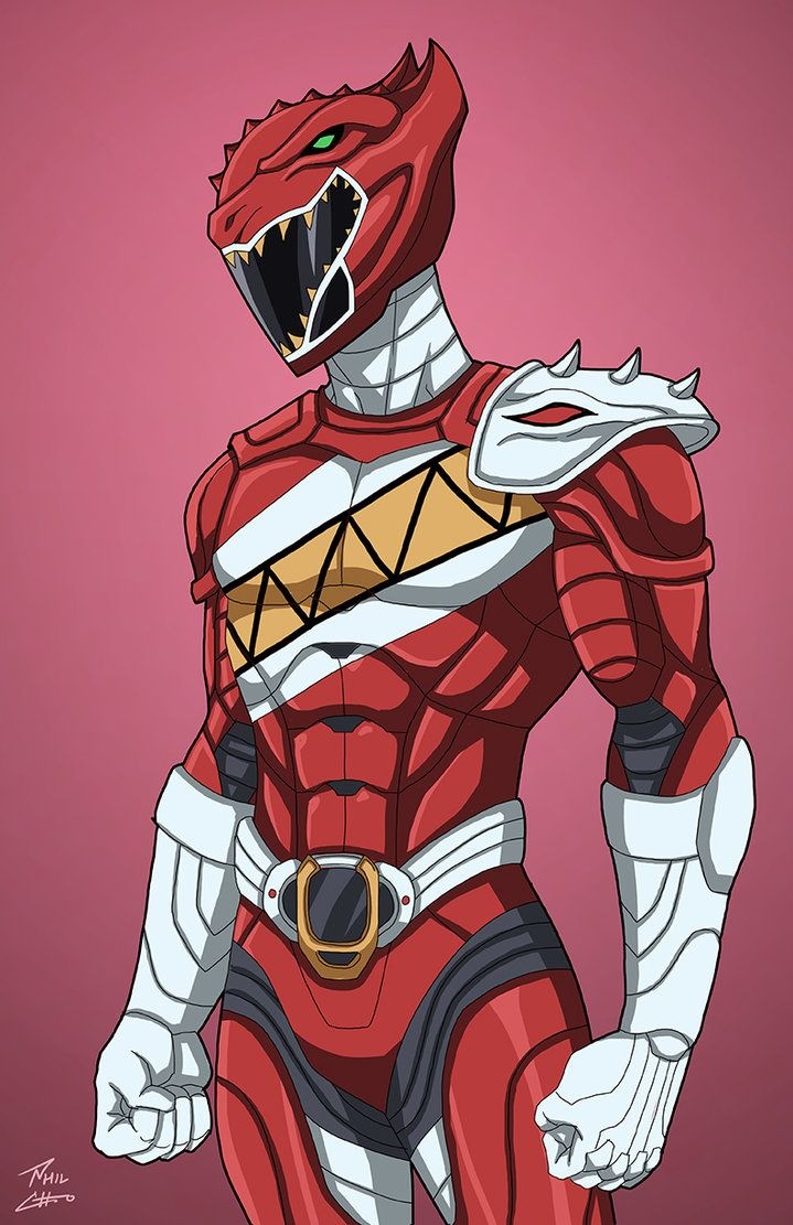 Red Carnotaurus Ranger commission by phil-cho.deviantart.com on @DeviantArt