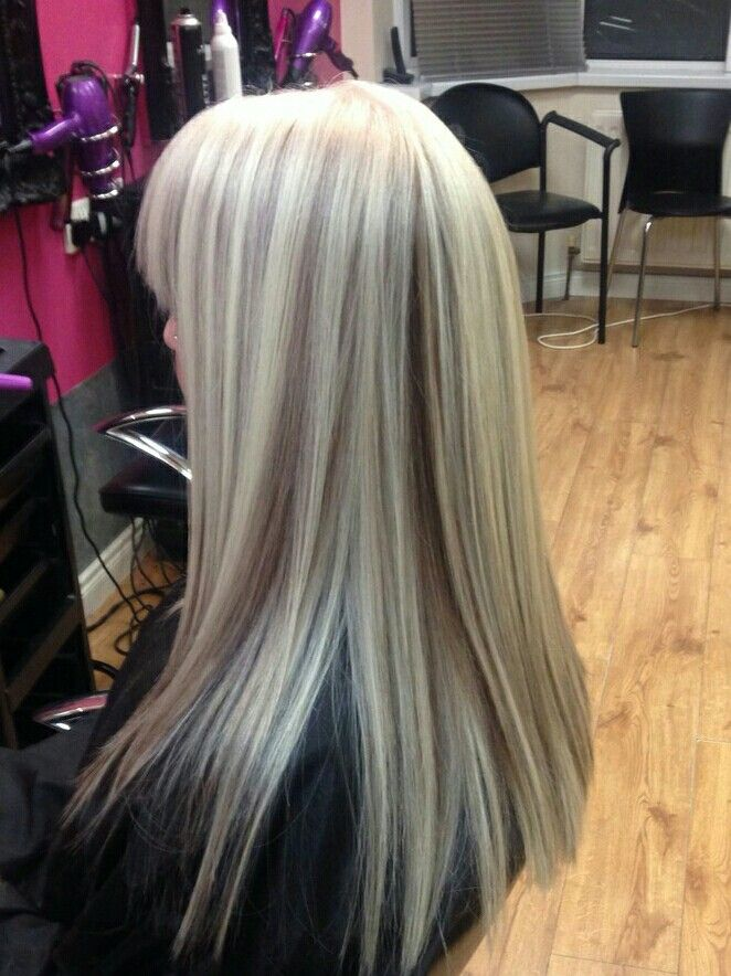 Platinum Blonde With Coffee Peek A Boo Mesh Tame That