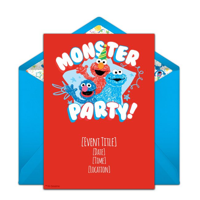 Customizable Free Elmo Online Invitations Easy To T