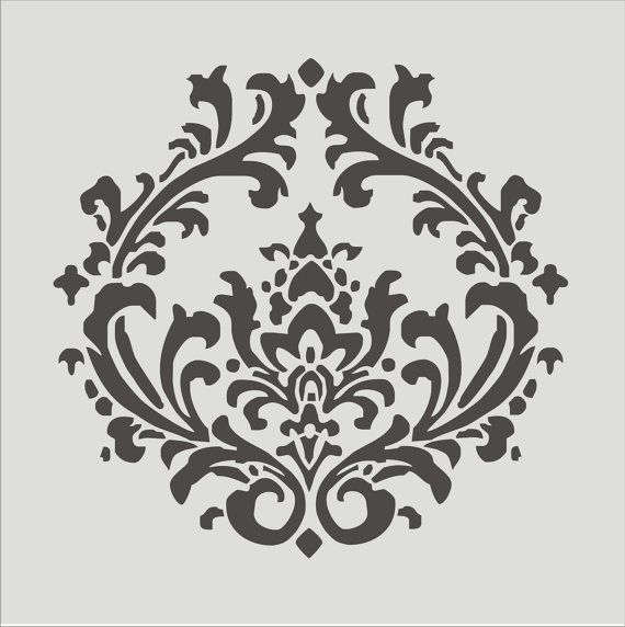 Articoli simili a Stencil Damask 4.3 Stencil Design LARGE 17x17 Beautiful French Stencils su Etsy