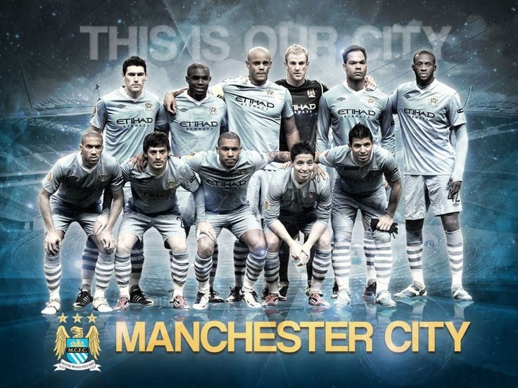 Manchester City Team Squad 2013 – 2014 Wallpaper HD