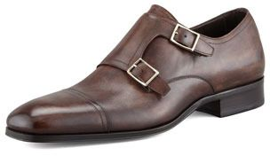 $1,410, Dark Brown Leather Double Monks: Tom Ford Edwin Double Monk Strap Loafer Dark Brown. Sold by Neiman Marcus. Click for more info: https://lookastic.com/men/shop_items/32810/redirect