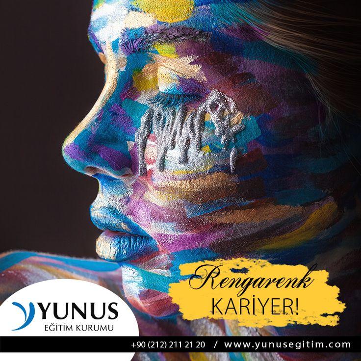 Temel Makyaj Eğitimi ile rengarenk bir kariyer seni bekliyor! www.yunusegitim.com 02122122120 #makyaj #kurs #kariyer #istanbul
