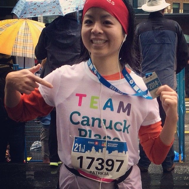 Thank you Patricia for running in the 2014 BMO Vancouver Marathon in support of Canuck Place Children's Hospice