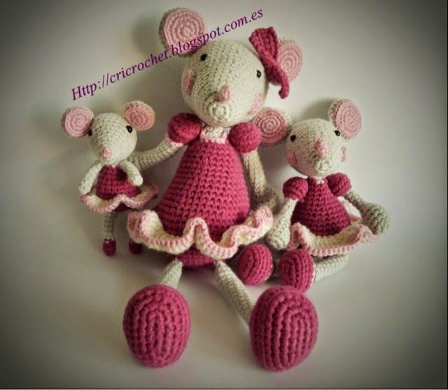 CRICROCHET: Patron ratita Crochet mice Pinterest ...